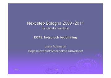 ECTS, betyg och bedömning (pdf)