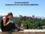 Statistik Erasmus studenter 2009-2010