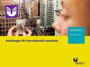 Avdelningen för internationellt samarbete - Internationella ...