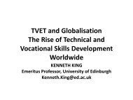 TVET and Globalisation The Rise of Technical and Vocational Skills ...
