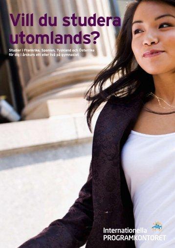 Vill du studera utomlands? (pdf) - Internationella programkontoret för ...