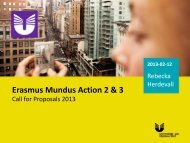 Erasmus Mundus Action 2 & 3 - Internationella programkontoret för ...