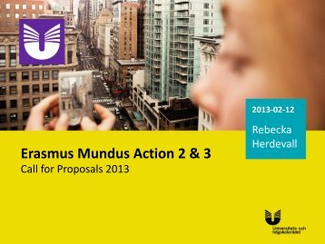 Erasmus Mundus Action 2 & 3 - Internationella programkontoret för ...