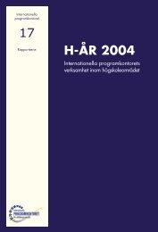 Högskoleenhetens årsredovisning 2004 (pdf) - Internationella ...