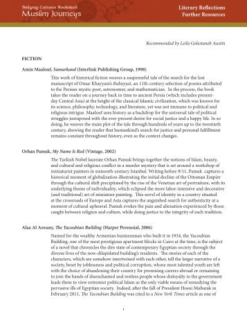 Literary Reflections further resources list - Programming Librarian