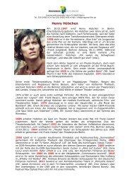 Überblick über die Bio- und Filmografie
