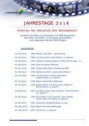 Jahrestage 2014 (PDF 494 KB) - PROGRESS Film-Verleih