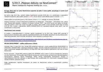 Raport za 05 2013.pdf - Progress Holding Sp. z oo