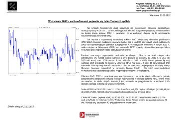Raport za 01 2012 - Progress Holding Sp. z oo