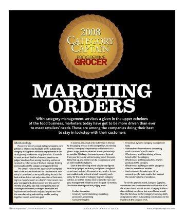 MARCHING ORDERS - Progressive Grocer