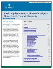 Realizing the Potential of Retail Analytics - Frank Diana's Blog