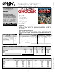 BPA Statement, June 2010 - Progressive Grocer