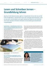 Lesen und Schreiben lernen – Grundbildung ... - ProGrundbildung