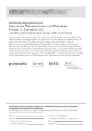 Schweizer Symposium für literarische ... - Pro Helvetia