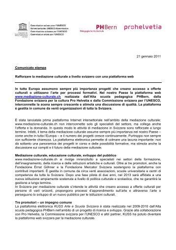 Comunicato stampa - Pro Helvetia