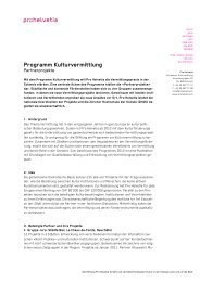 Partnerprojekte - Pro Helvetia