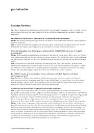 Interview - Pro Helvetia