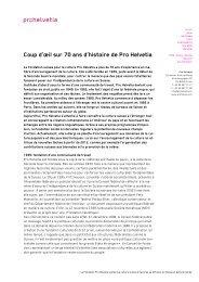 Coup d'œil sur 70 ans d'histoire de Pro Helvetia (PDF)
