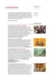 Newsletter 0706 - Pro Helvetia