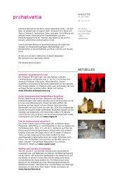 Newsletter 0406 - Pro Helvetia