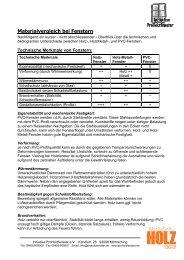 Materialvergleich bei Fenstern - Bundesverband ProHolzfenster eV