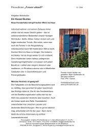 """Pressedienst """"Fenster aktuell"""" - Bundesverband ProHolzfenster eV"""