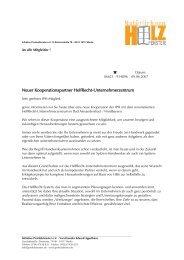 Neuer Kooperationspartner HelfRecht-Unternehmerzentrum