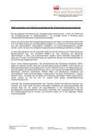 Stellungnahme BHKH - Bundesverband ProHolzfenster eV