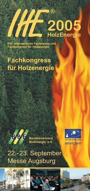IHE Kongressprogramm - Bundesverband ProHolzfenster eV