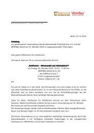 Einladung Wertbau - Bundesverband ProHolzfenster eV