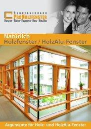 HolzAlu-Fenster - Bundesverband ProHolzfenster eV