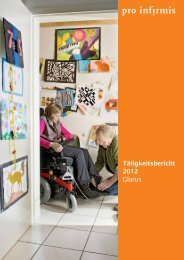 Tätigkeitsbericht - pdf, 252K - Pro Infirmis