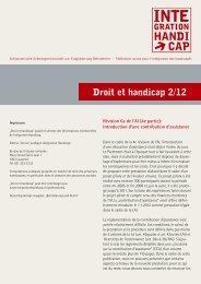 Droit et handicap 2/12 - Pro Infirmis