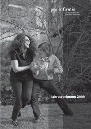Jahresrechnung 2009 - Pro Infirmis