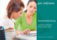 Broschüre Assistenzberatung - Pro Infirmis