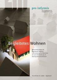Broschüre Begleitetes Wohnen - pdf, 1.4M - Pro Infirmis