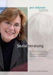 Broschüre Sozialberatung - Pro Infirmis