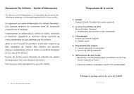 Programme de la soirée Rencontre Pro Infirmis – Soirée d'information