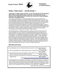 Mutter / Vater krank - und die Kinder ? Factsheet - Pro Infirmis