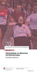 Gleichstellung von Menschen mit Behinderungen - Bundesamt für ...