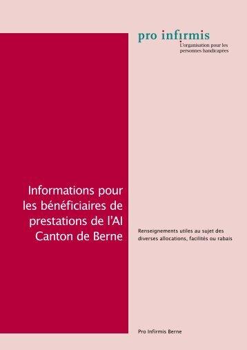 Informations pour les bénéficiaires de prestations de l'AI - Pro Infirmis