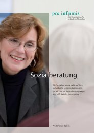 Broschüre Sozialberatung - pdf, 739K - Pro Infirmis