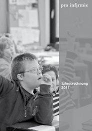 Pro Infirmis Jahresrechnung 2011 - pdf, 5.0M