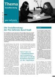 Die Sozialberatung der Pro Infirmis Basel-Stadt