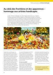 hommage aux artistes handicapés - Pro Infirmis