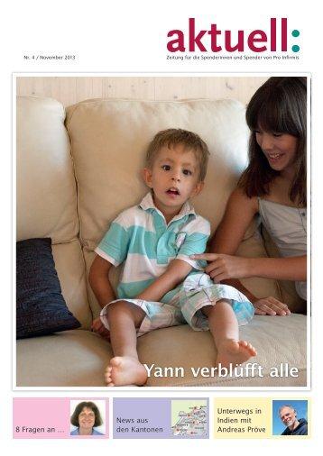 Spenderzeitung Aktuell 4/13 - pdf, 1.4M - Pro Infirmis