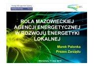 rola mazowieckiej agencji energetycznej w rozwoju energetyki ...