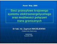 Sieci przesyłowe krajowego systemu elektroenergetycznego oraz ...