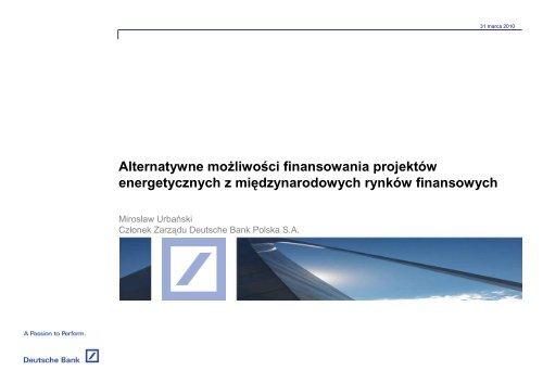 Miroslaw Urbanski, DB - Procesy Inwestycyjne Sp. z oo