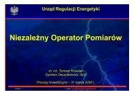 Urząd Regulacji Energetyki Niezależny Operator Pomiarów ...